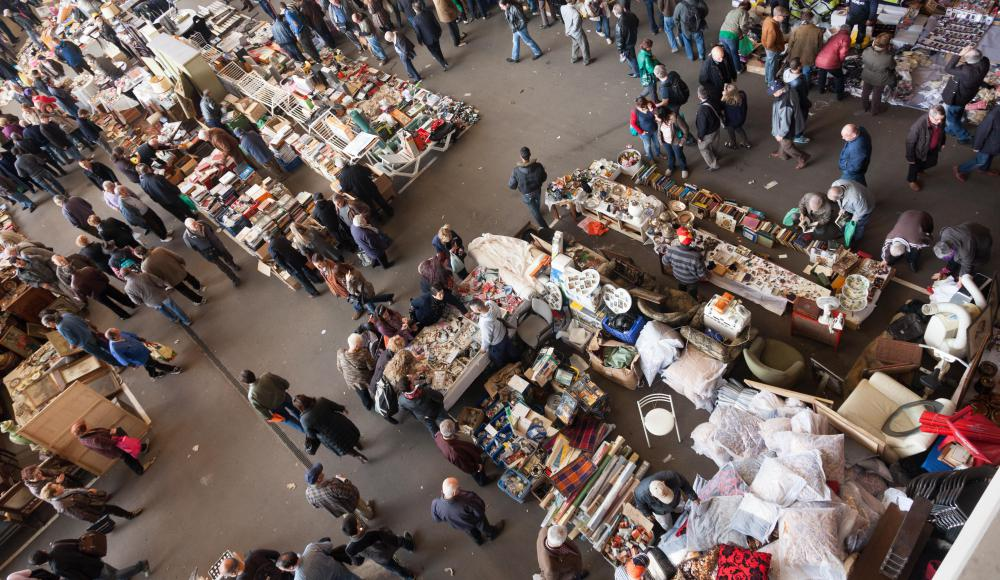 Point of sale retail systems may be used at flea markets.