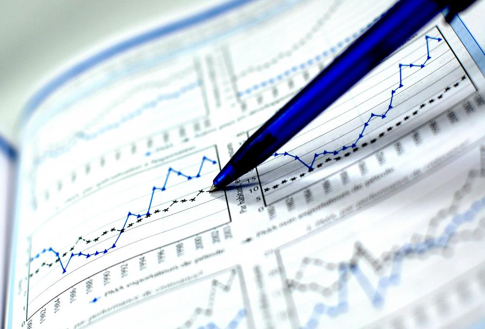 By comparing multiple graphs, a market trend can be identified.