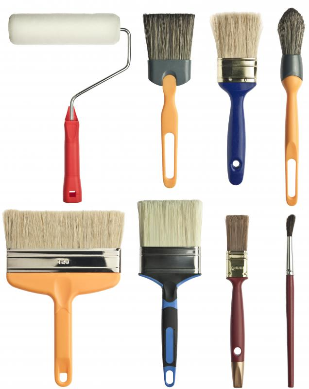 Choosing the right brush style and size is important when painting a room.