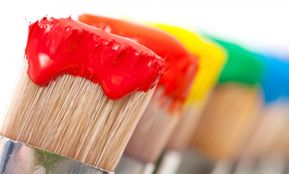 Because acrylic latex paint is water-based, it is easier to clean brushes after using them.