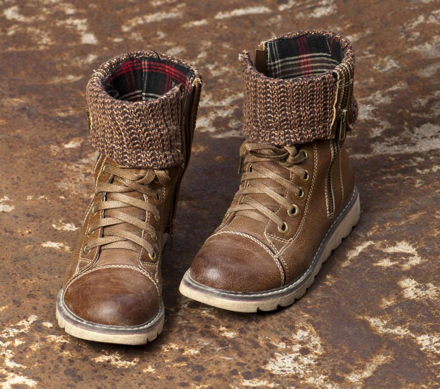 Tanned leather is often used in the making of waterproof boots.