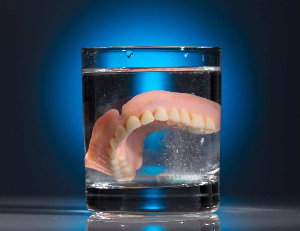 Dentures are a type of removable dental prosthetic.