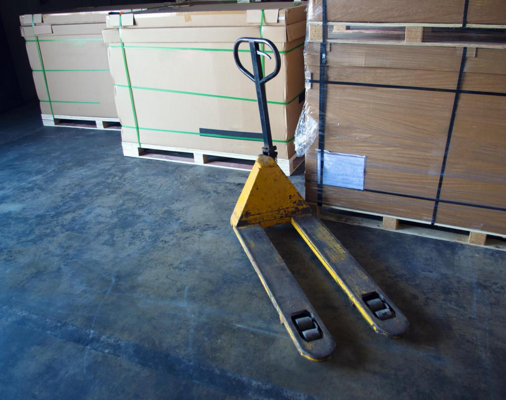 Pallet jacks are constructed with blades that slide under pallets of goods.