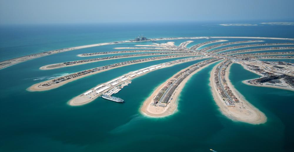 The construction of artificial islands like the Palm Islands in Dubai is seen as a solution to future land usage problems.