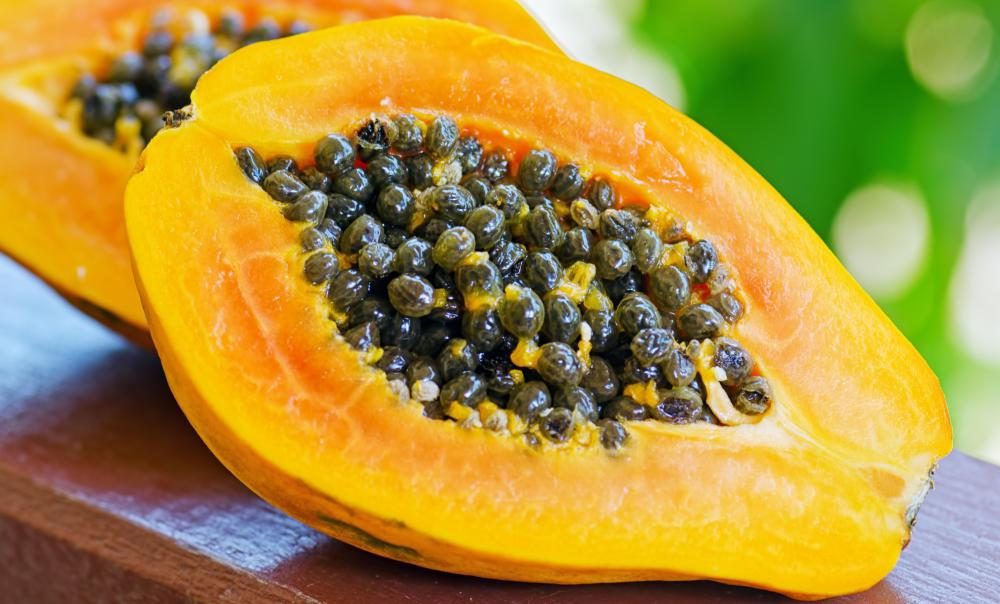 Papaya is often used in natural products for oily skin.