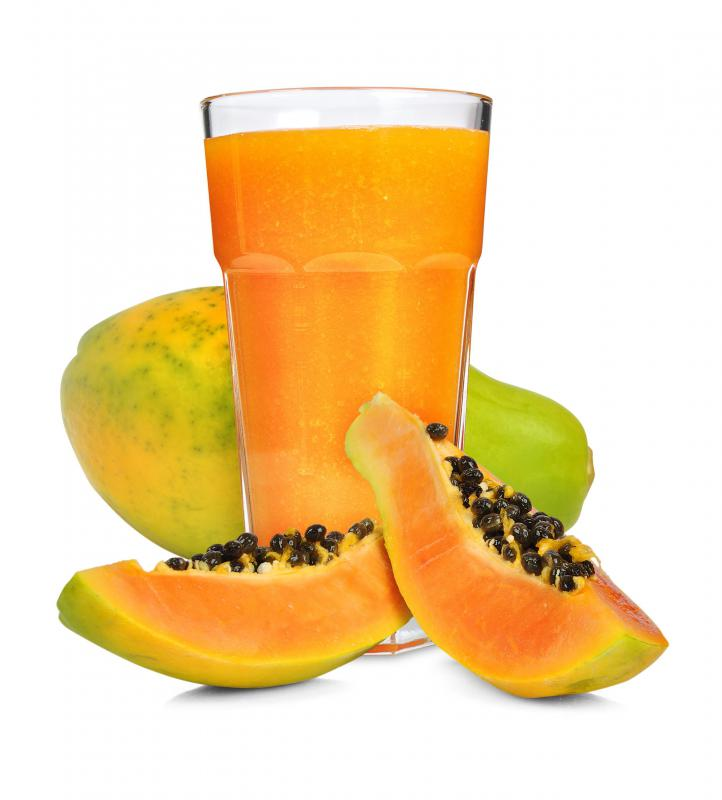 Papaya is a good natural source of vitamin C.