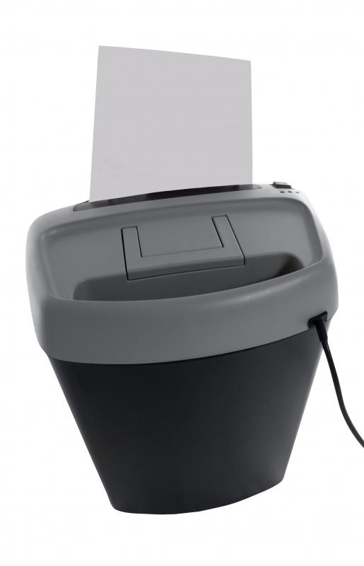 A shredder is commonly used in a home office.
