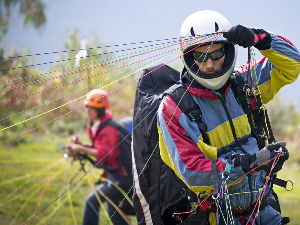 Extreme activities for travel may include paragliding.