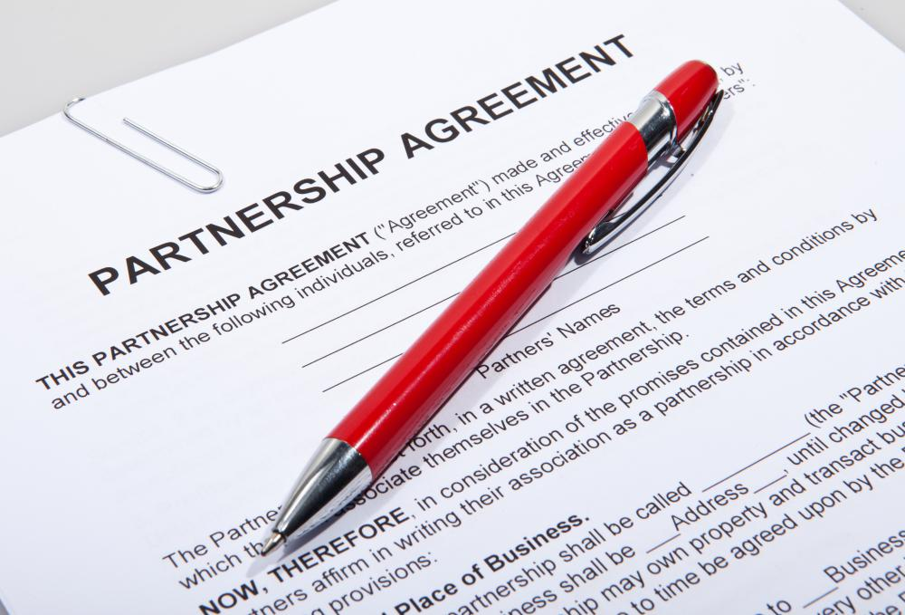 When two or more people or entities come together in an active partnership, they all agree to a general partnership.