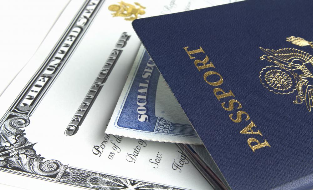 A disaster kit should contain important documents like passports and social security cards.