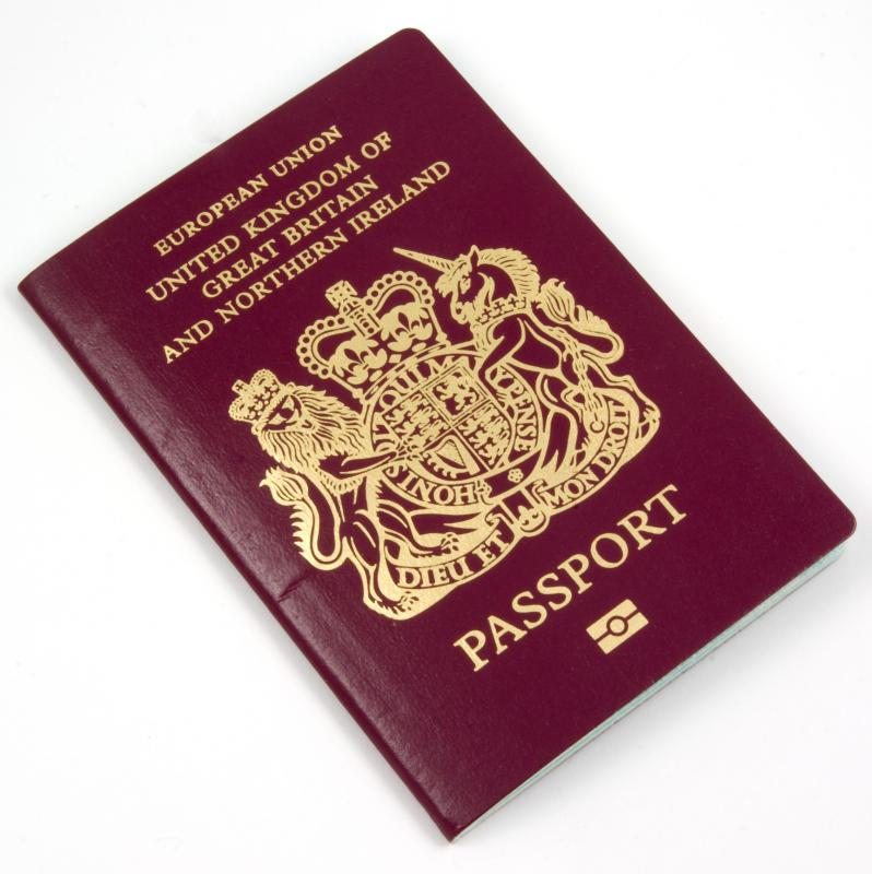 A UK passport.