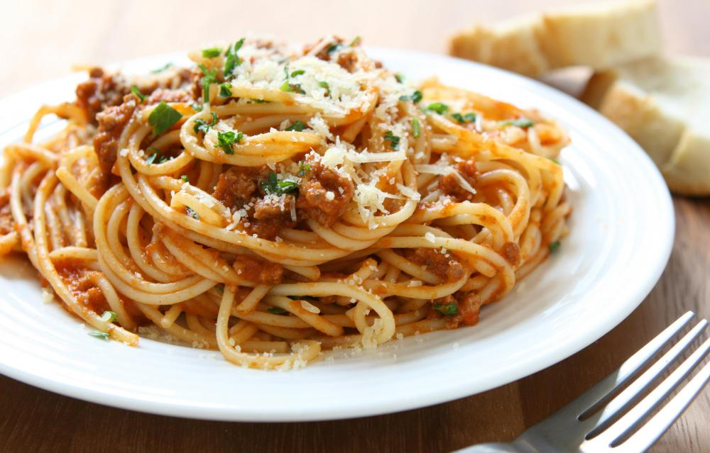 Crock-pot spaghetti refers to homemade spaghetti sauce.