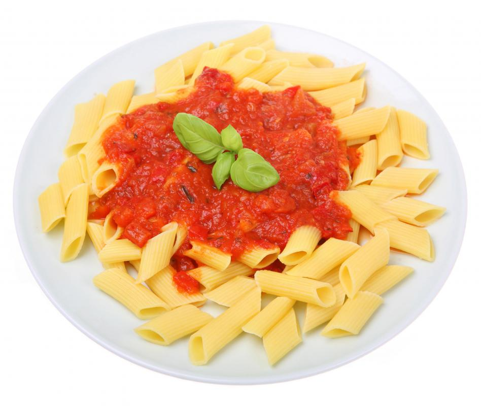 A ridged pasta like penne should be served with thicker sauces.