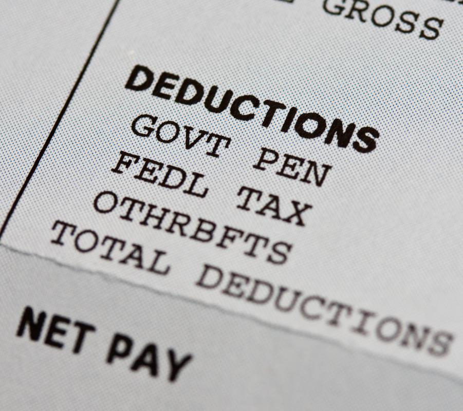 Federal taxes are one form of payroll deductions.