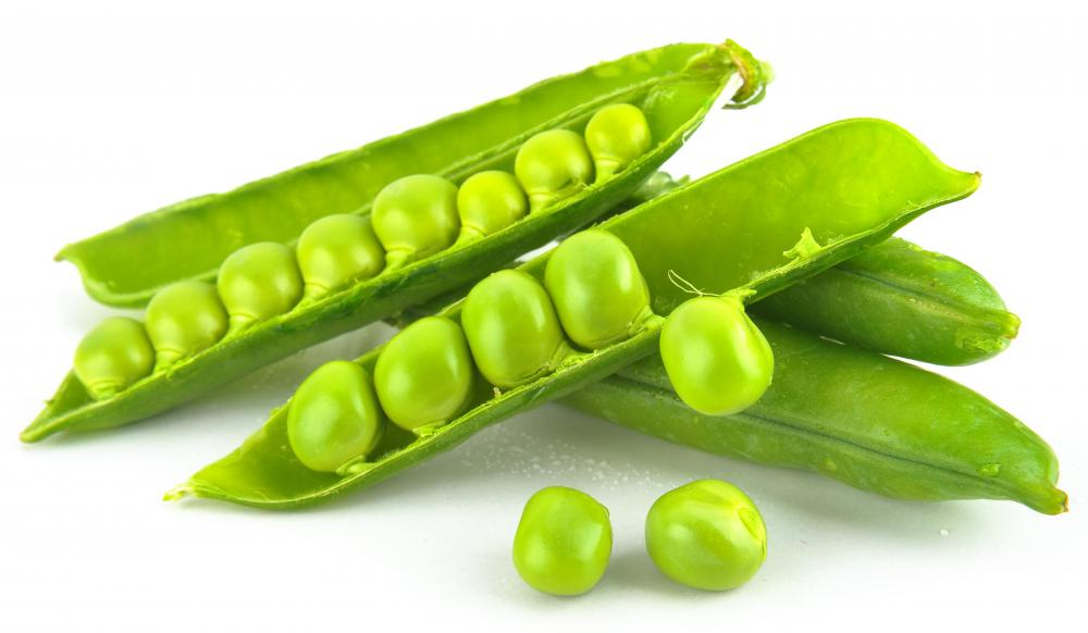 Green peas are rich in vitamin C.