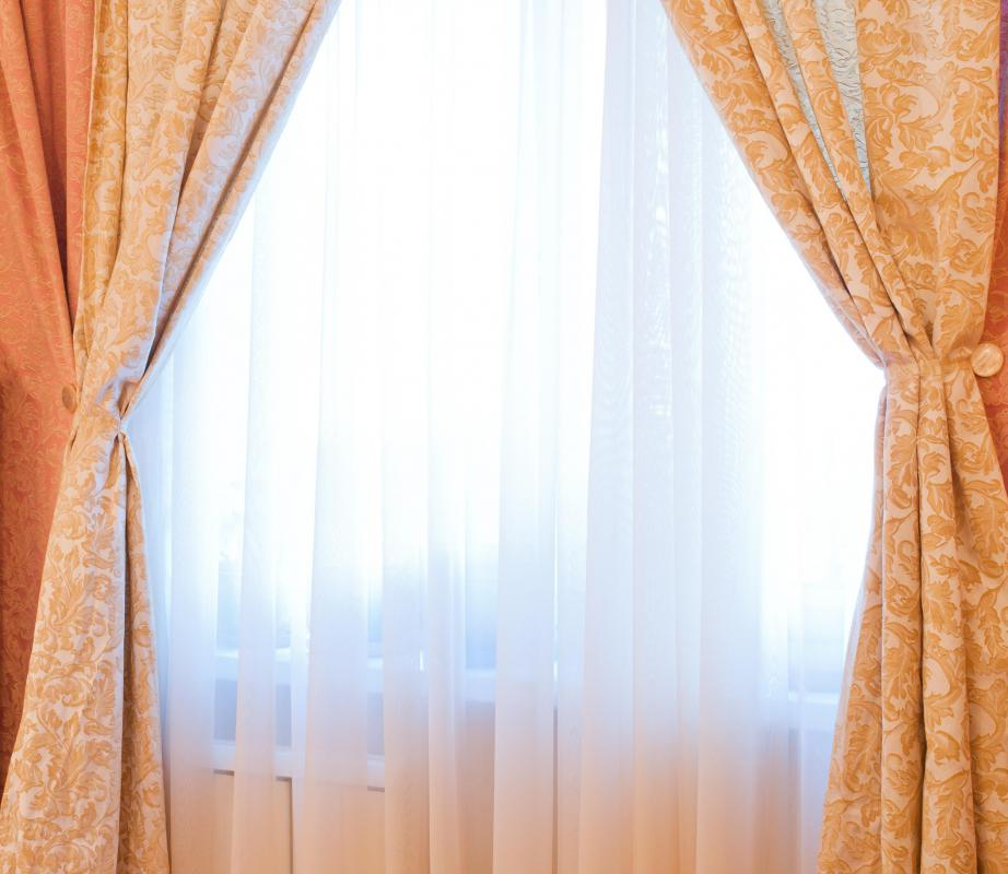 Curtains and sheers are types of window treatments.