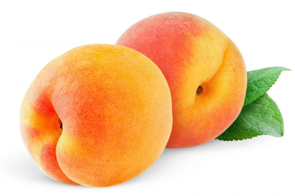 Peaches are drupes.