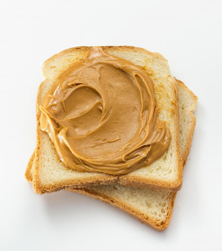 Bacon flavoring can perk up a traditional peanut butter sandwich.