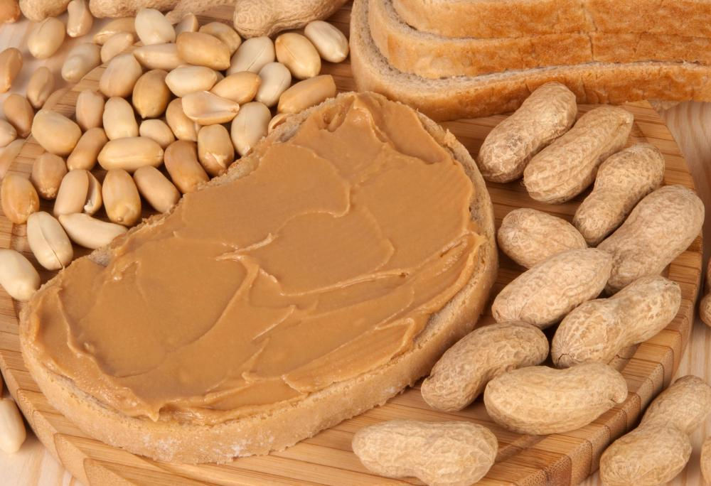 Natural peanut butter contains only ground up peanuts.