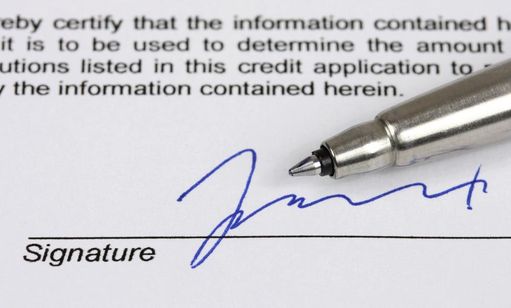 What is a Signature Affidavit? (with pictures)