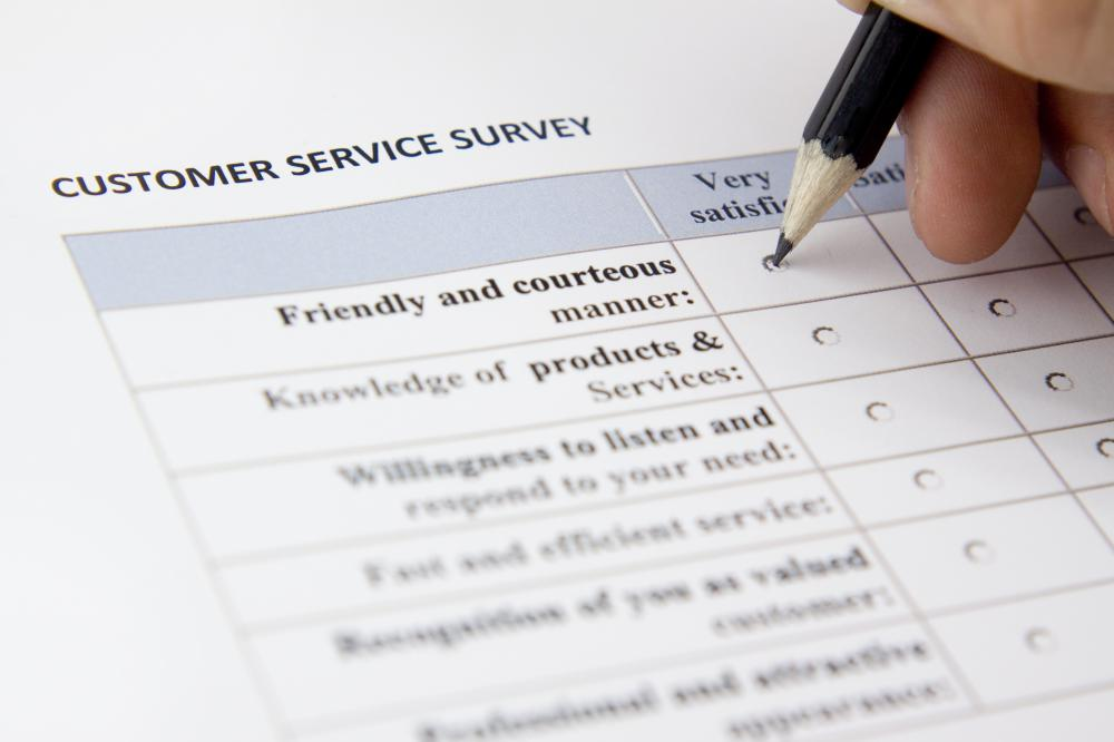 Surveys are used to determine the level of customer satisfaction.