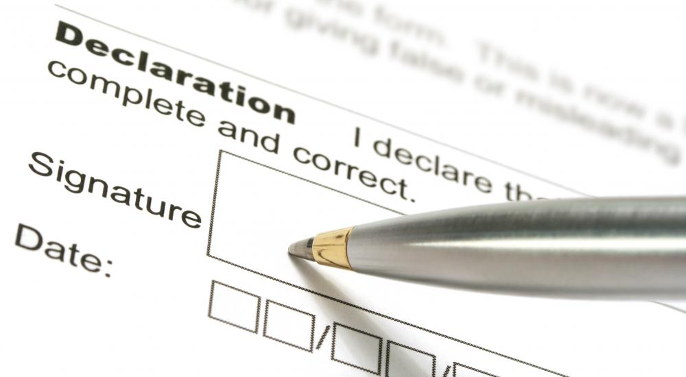 A W-4 form requires a sworn signature.