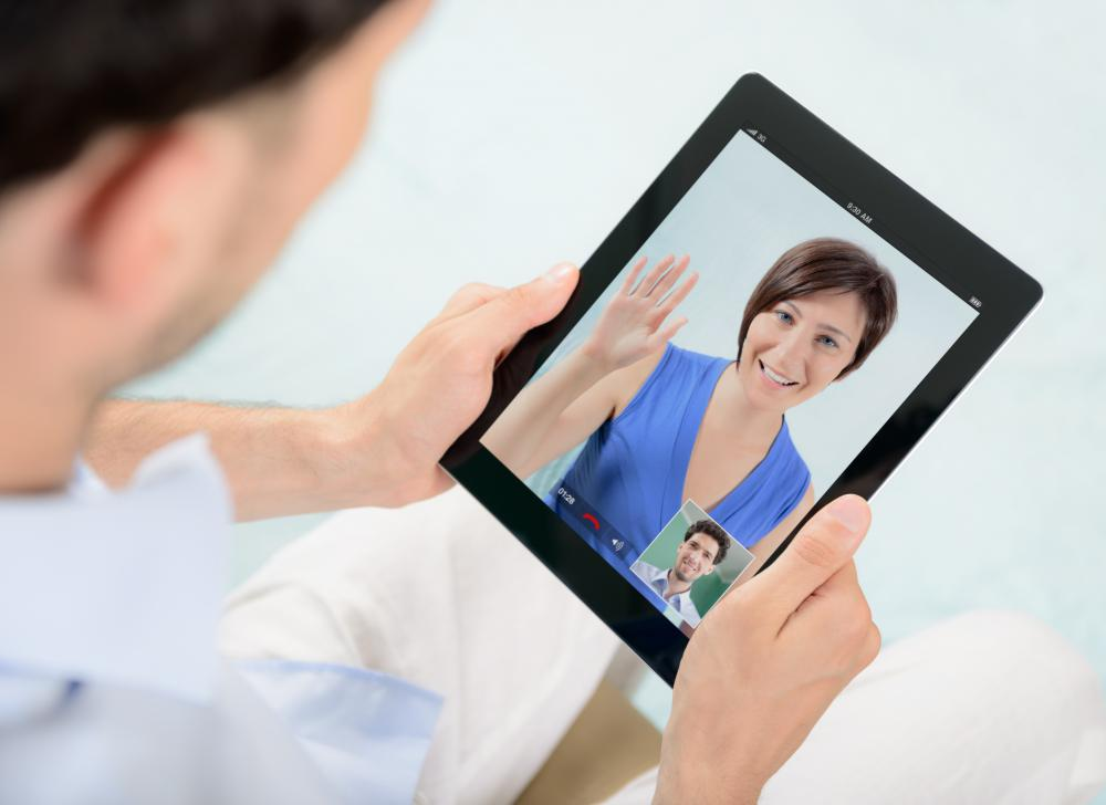 Most mobile devices like tablets and smartphones now include a front-facing webcam type camera.