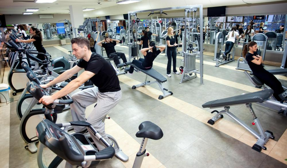 Some workouts include treadmills, exercise bikes and other equipment on a cardio circuit.