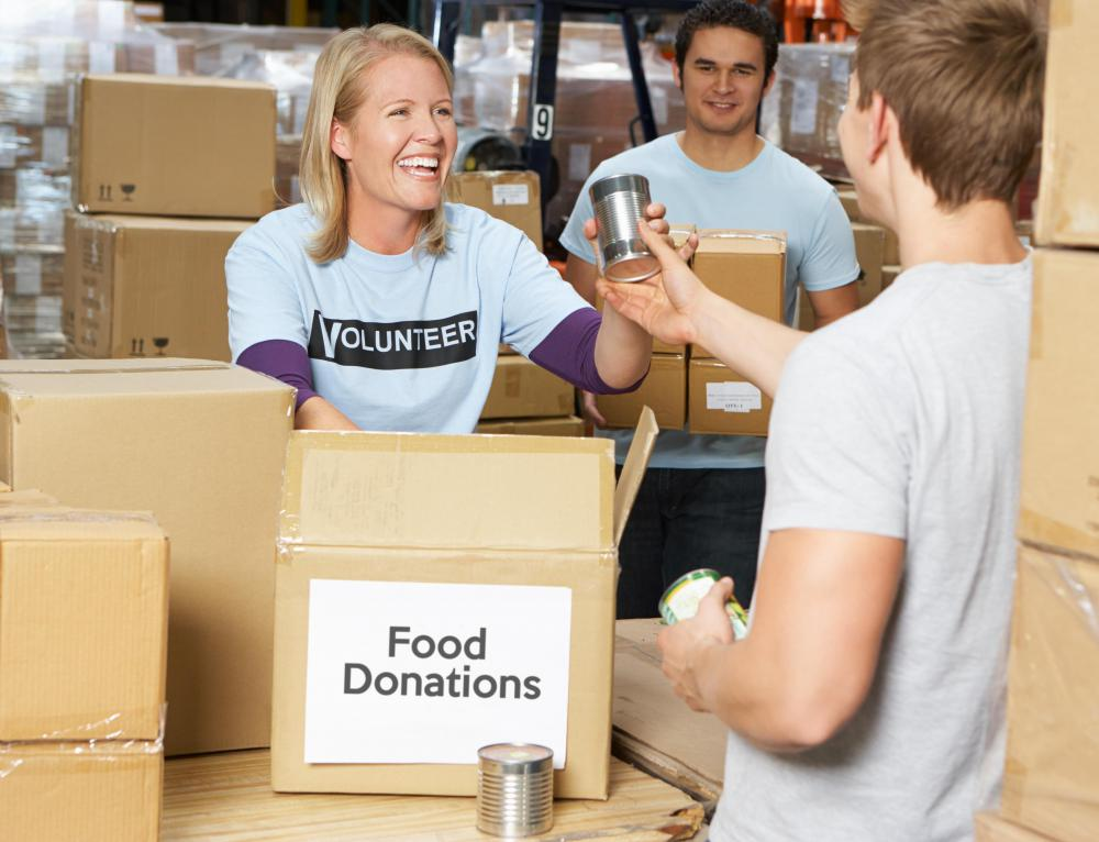 A self-help project may involve food donations.