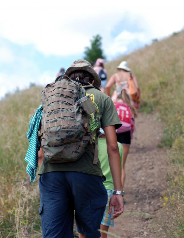 Families should set out on their hiking trips early in the day.