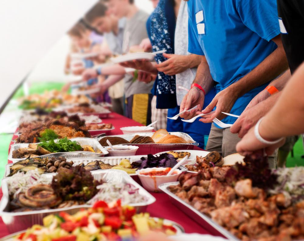 Party tents may need to com with electricity for items such as food warmers when serving food as part of a buffet.