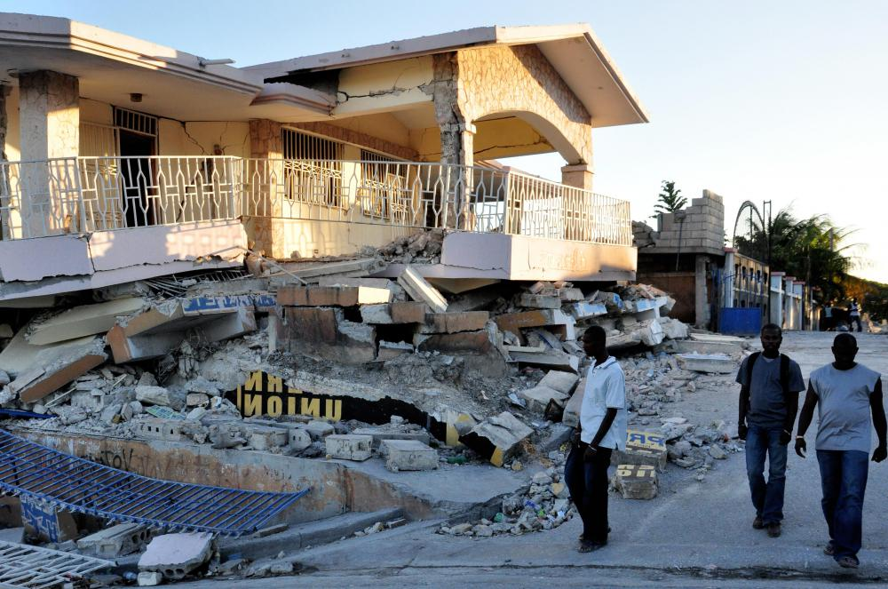Disaster management is needed to help clean up areas hit by an earthquake.