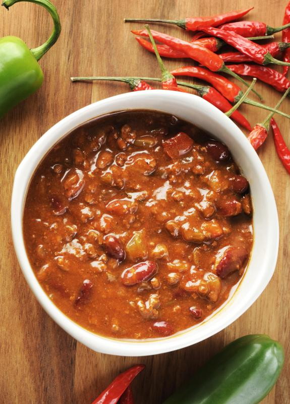 Most legumes, including kidney and black beans, can be used to make a hearty chili.