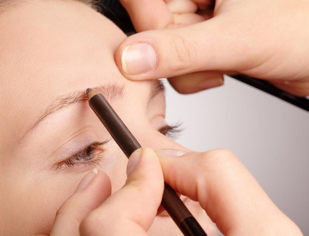A eyebrow pencil can be used to fill in sparse looking areas in the eyebrows.
