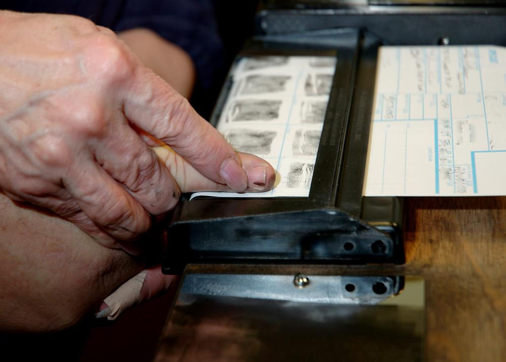 Once fingerprints are collected, they are compared to fingerprints that are on file.