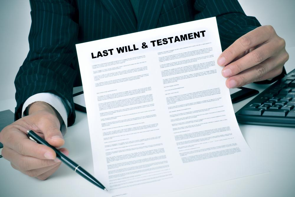 Estate planning software can be used to create a person's last will and testament.