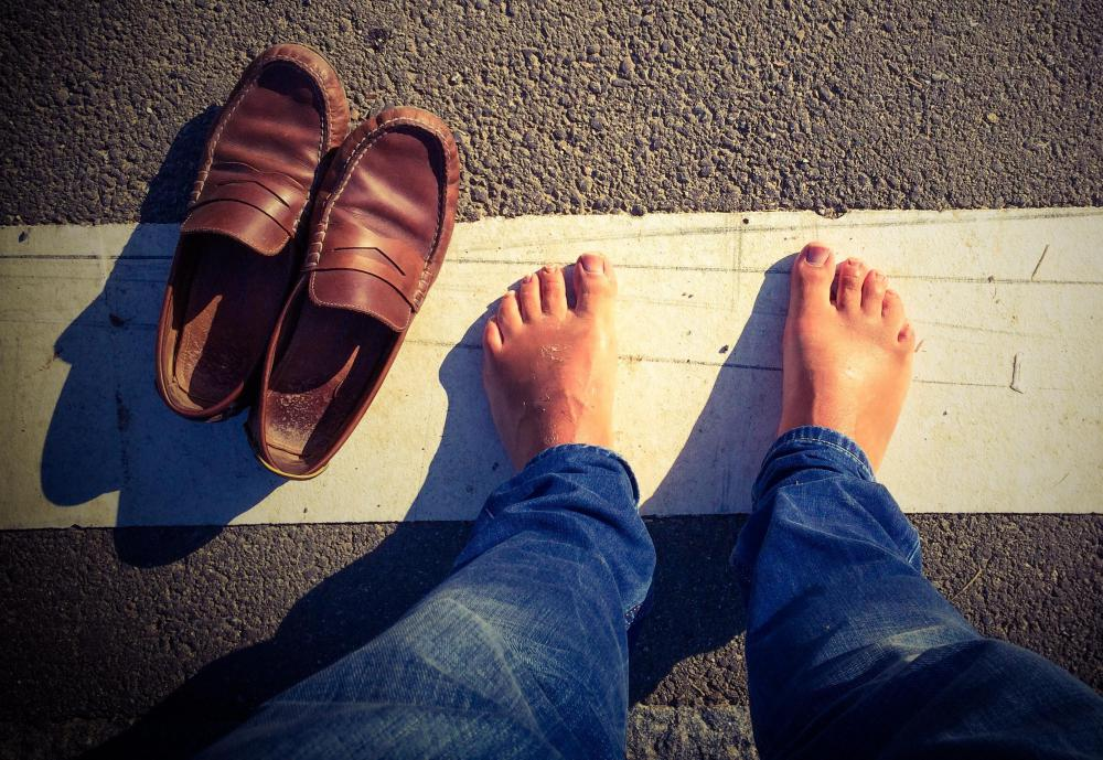 Walking barefoot in public places may cause foot fungus.