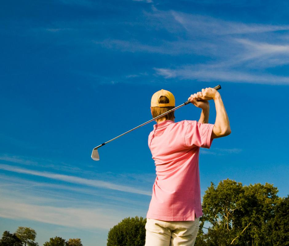 Many people turn to golf as a form of light exercise.