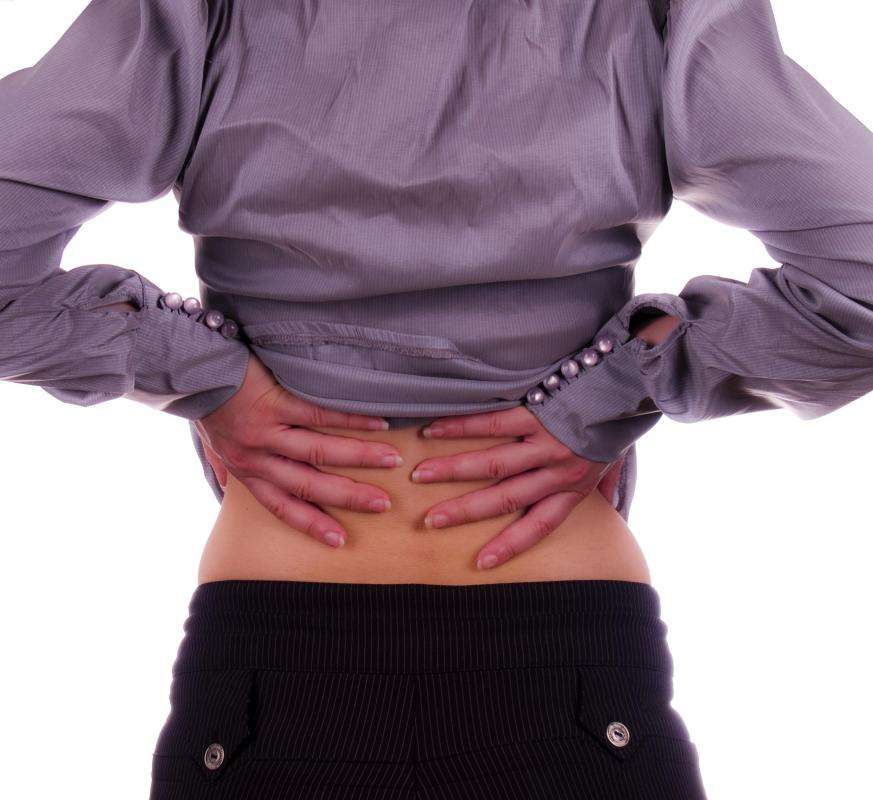 Epidurals may be given to alleviate back pain.