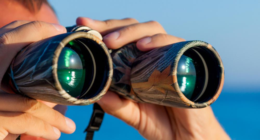 Investigators may attempt surveillance from a safe distance with the help of binoculars.