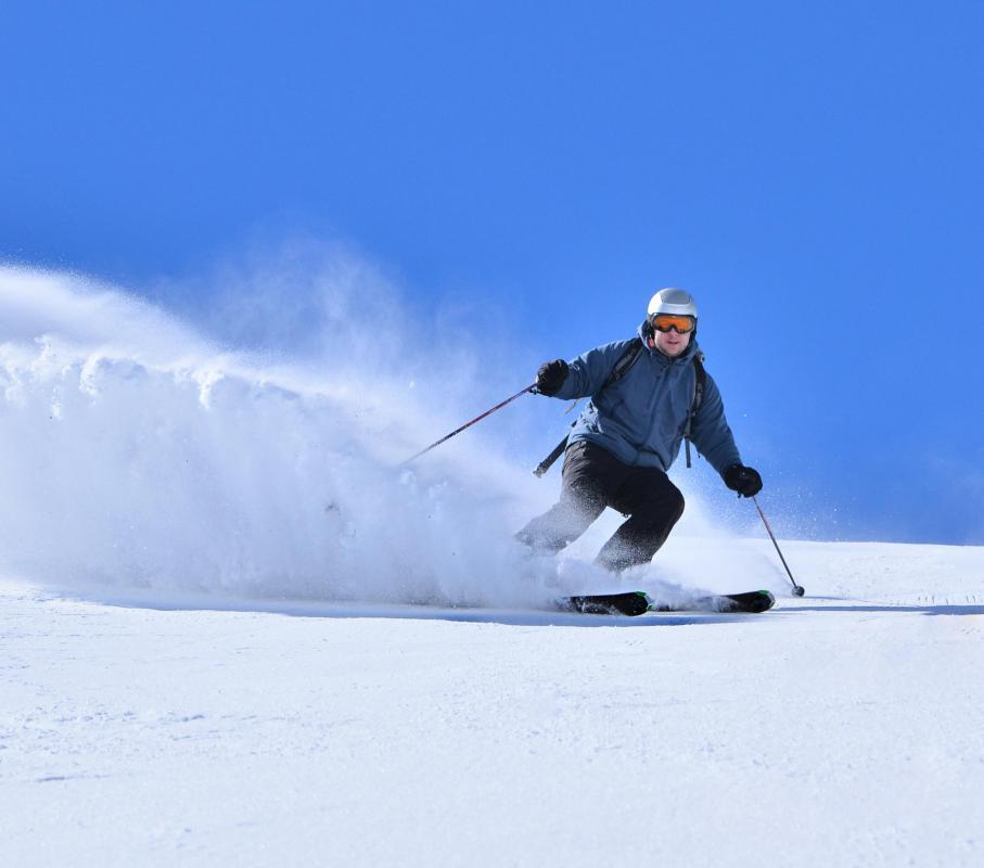 Winter resorts include ski slopes for guests to enjoy.