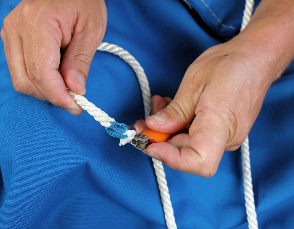 Certain types of rope may be spliced.