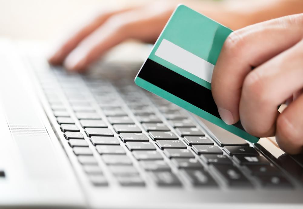 Debit cards may be used to make fraudulent online purchases.