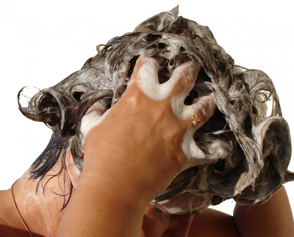 Sodium laurel sulfates are often added to shampoos to create lather.