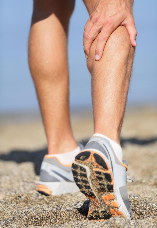 Sciatica pain may be felt all the way down to the calf.
