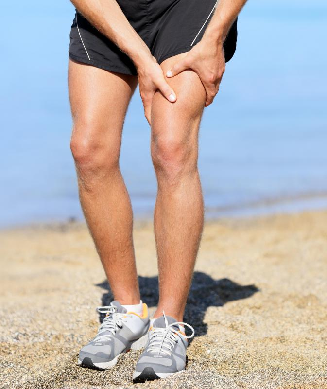 An injury may lead to leg swelling.