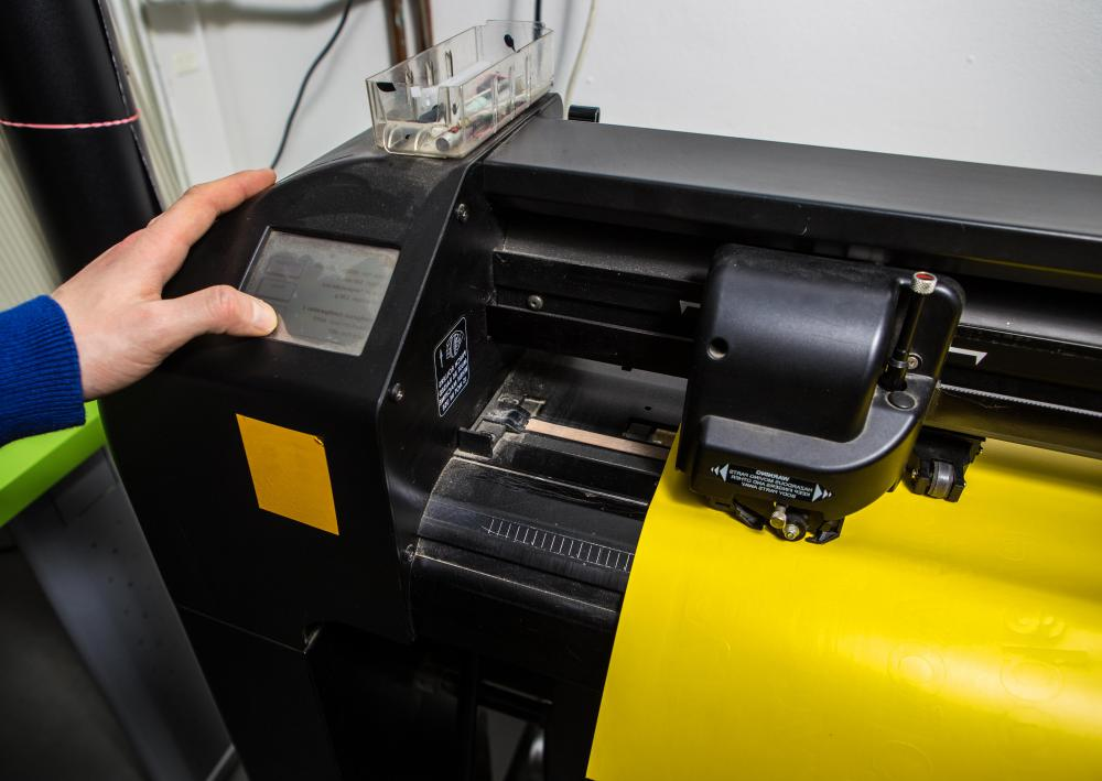 Some printing machine operators specialize in the use of plotters, which automate vinyl cutting and printing of blueprints.
