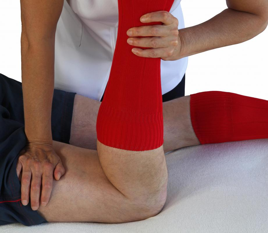 Diathermy treatment may be performed to treat muscle tension and joint pain.