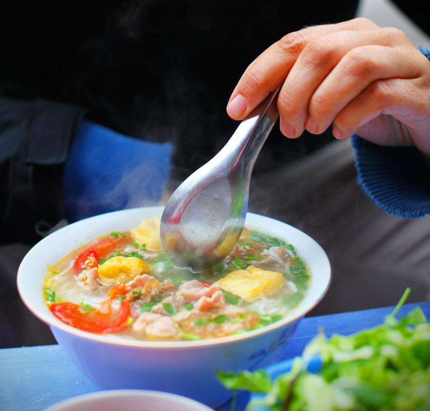 Some fragrant Asian soups feature ginseng as well as bok choy, scallions and other vegetables.