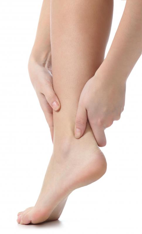 Sprains and strains are common causes of ankle pain.